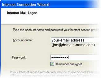 Internet Connection Wizard's Internet Mail Logon